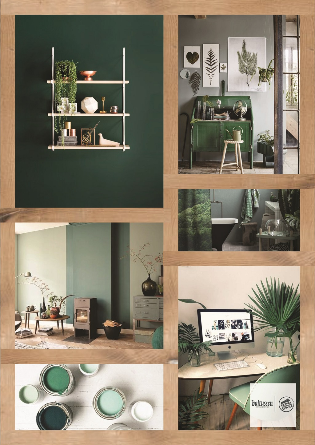 Collage groen